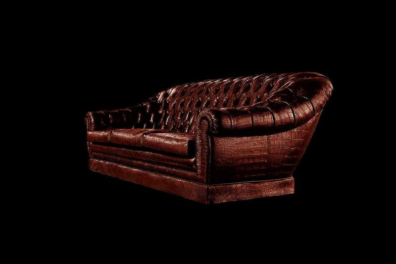 Alligator Leather Couch